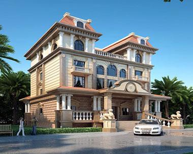 四层带阁楼豪华高端别墅设计效果图