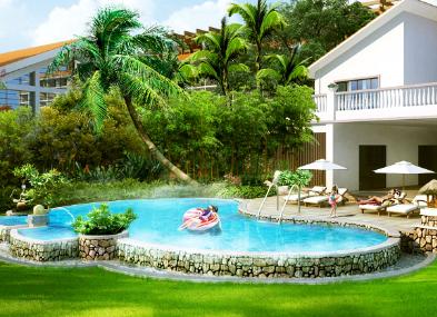 【私家花园】之别墅庭院景观全景效果图案例