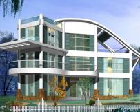 611独栋豪华框架结构别墅施工图8m×15m