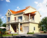 【永云】湖南别墅设计公司AT091二层小别墅带车库全套设计图纸11.4mx10.6m