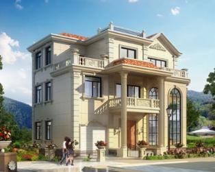 湖南永云别墅设计公司AT202三层复式带车库别墅图纸13.4mx10.2m