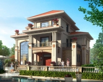永云别墅AT235三层高端豪华复式别墅全套建筑设计图纸15.3mx11.7m