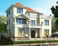 永云别墅AT1628三层带露台简洁农村别墅施工图纸15mx11.2m