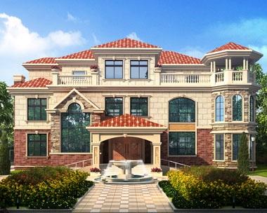 永云别墅AT1672带地下车库豪华私人别墅设计建筑图纸20.5mx17.6m
