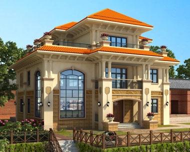 永云别墅AT1700三层高档复式别墅全套建筑设计图纸13.2mx12.4m