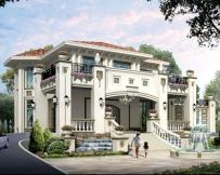 永云别墅AT1718纯欧式豪华双车库复式别墅全套设计图纸18.5mx17.5m