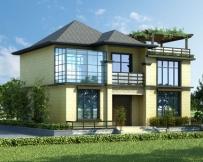 永云AT1720现代二层新亚洲风格楼中楼复式小别墅设计施工图纸11.5xm9.5m