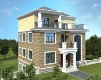 永云别墅AT1713三层简洁坡地架空别墅设计施工图纸9.8mx9.8m