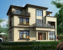 【带装修图纸】AT1742长沙宁乡三层复式客厅别墅设计图纸13.8mx12.2m