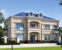 占地230平米AT1773二层大气实用私家别墅全套设计施工图纸18.2mX11.2m