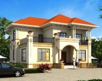 AT1831新款豪华大气二层欧式别墅设计全套施工图纸15mX15m