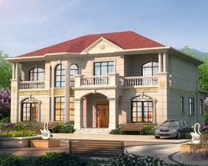 AT1871新农村豪华二层带柴火房欧式别墅设计施工图纸16.6mX15.8m