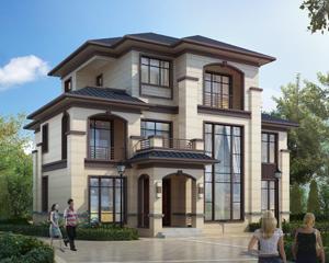 AT1867时尚简约新中式风格三层复式楼别墅设计施工图纸16mX12.6