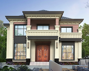 AT1918经典二层新中式风格漂亮小别墅设计全套图纸13.8mX12m