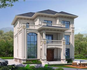 2021新款AT1940独立套房式三层简欧别墅设计施工图纸12.2mX15.8m