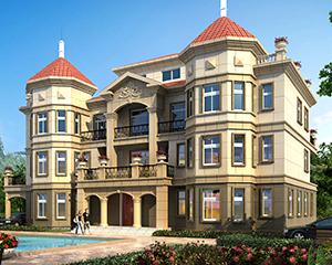 AT1768四层高端大气复式楼干挂石材大型别墅建设计图纸26.4mX15.5m