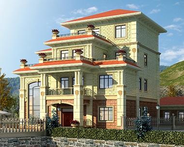 AT1791四层漂亮复式带堂屋私家别墅全套设计图纸15.2mX17m