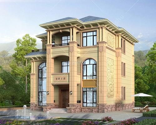 2021新款AT2806新农村三层欧式高档复式楼自建别墅全套建筑设计图纸